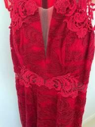 Título do anúncio: Vestido vermelho longo
