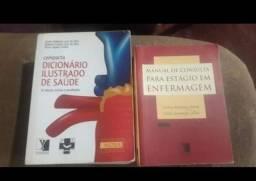 Título do anúncio: Vende esses 2 livros para quem cursa bacharel em Enfermagem ou técnico de Enfermagem