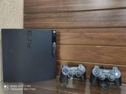 Título do anúncio: PS3 cm 2 manetes e jogos