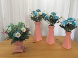 Decoração: Trio de Vasos + Vaso Solitário