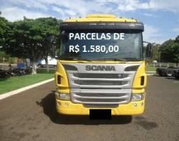Scania P310 2015 8x2 Bitruck Carga Seca Entrada mais parcelas Contrato Serviço.