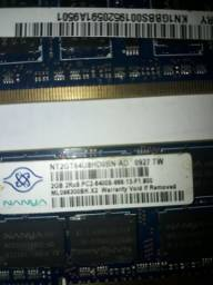 Memoria Notebook 2gb 2pentes
