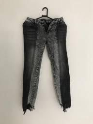 Calça jeans preto/cinza