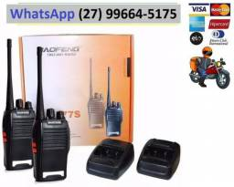 Kit Radio Walk Talk Comunicador Bf 777s Alcance 9km