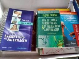 Kit de Livros Enfermagem, com catálogo de cursos