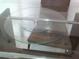 "Centro de mesa""prato""de vidro giratório 45cm"