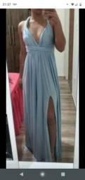 Vestido de madrinha azul serenity