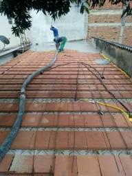 Concreto bombeado e lajes pré fabricadas