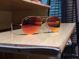 Óculos RAYBAN Aviador (Vermelho/Amarelo)