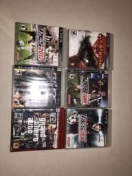 Kit com 6 jogos de Ps3