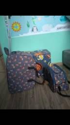 Kit 2 malas de viagem G e M arara azul