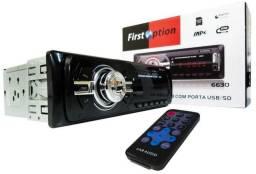 Rádio First Option com e sem Bluetooth