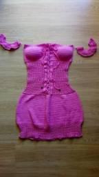 Vestido de crochê ciganinha