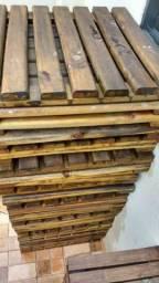 Peças de Decks de madeira pinus 10 reais