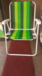 Cadeira de praia mor! alta