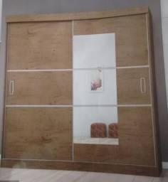 Roupeiro de casal portas de corer com espelho promoçao saldao de ofertas