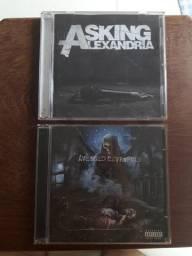 CDs Avenged Sevenfold e Asking Alexandria