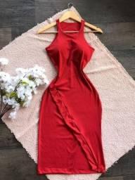 Vestidos em tecido canelado