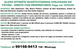 Kitinete conjugada com quarto/cozinha/banheiro no Fátima - Direto com proprietário