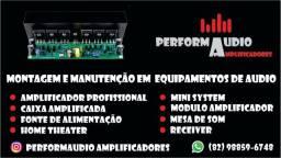 Manutenção em equipamentos de áudio