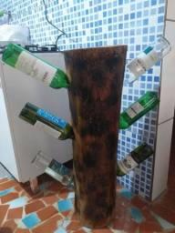 Adega rústica p/6 garrafas