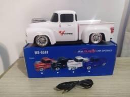 Caixa de som Bluetooth Camionete Branca - Muito boa
