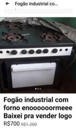 Fogão industrial 4bocas com forno