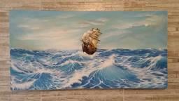 Título do anúncio: Quadro escultura\ pintura sobre tela