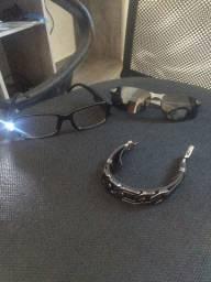Óculos e pulseira personalizada