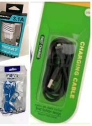 Título do anúncio: KIT CARREGADOR + FONE + CABO USB