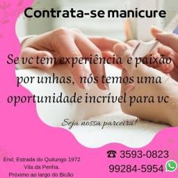 Título do anúncio: Contrata-se manicure