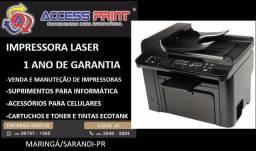 Impressora hp  Multifuncional Laserjet Pro M1536DNF duplex