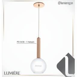 Título do anúncio: pendente redondo com globo, metal e vidro  PD-5221