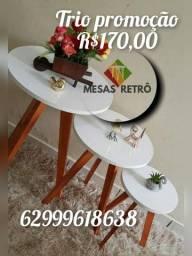 Título do anúncio: Trio de mesinhas R$170,00