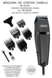 Título do anúncio: Máquina de cortar cabelo Wahl nova Lacrada Parcelo e Entrego.