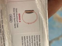 Título do anúncio: Apple Watch series 6 rose 40mm gps + celular