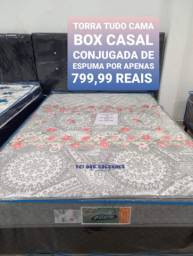 Título do anúncio: Promoção de cama box casal conjugada de espuma por apenas 799,99 reais