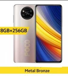 Poco X3 Pro 256 GB Azul e metal bronze