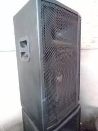 Título do anúncio: Par de caixas LS acustica drive titanio falante 15 polegada 500w rms