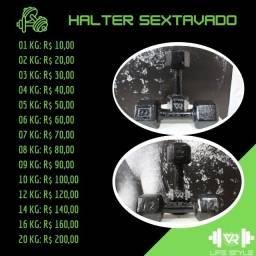 Título do anúncio: Halteres sextavados - R$ 10,00/KG - Leia a descrição