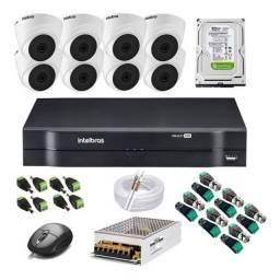 Título do anúncio: Kit Cftv 8 Câmeras D Full Hd 1080p Intelbras Mhdx 8 Canais - Original Lacrado