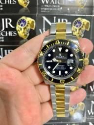 Relogio Rolex prata com dourado automatico