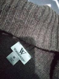 Título do anúncio: Casaco de tricô marrom