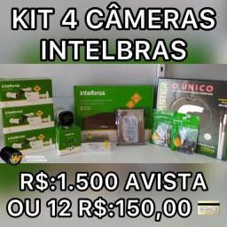 Título do anúncio: Kit câmeras hd intelbras completo