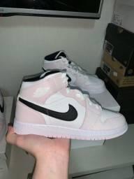 Título do anúncio: Jordan 1 mid rosa pink 37