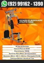 Título do anúncio: Estação de Musculação Athletic Force com 38 Ex. + Todos acessórios Entrega Em 2 Dias