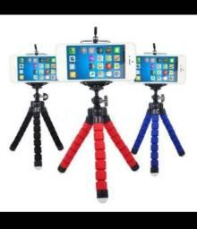 Mini tripé portátil flexível para celular