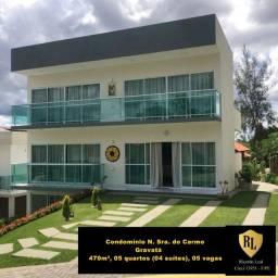 Vendo Casa Duplex em Gravatá, 470 m², 05 quartos (04 suítes)