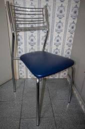 Título do anúncio: Cadeira Metal Cinza / Azul 87 cm x 40 cm x 44 cm