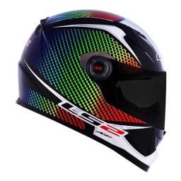 Título do anúncio: Capacete Ls2 Ff358 Wardots Rainbow Capacete Moto